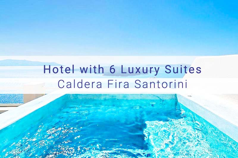Hotel For Sale at Fira Caldera Santorini, 6 Luxury Suites