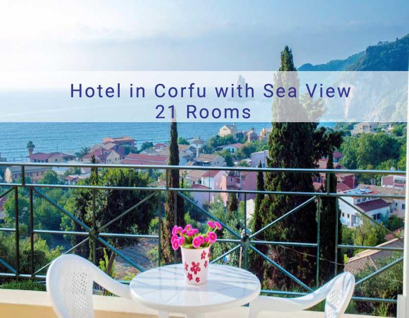 Hotel in Agios Gordios Corfu with 21 Rooms