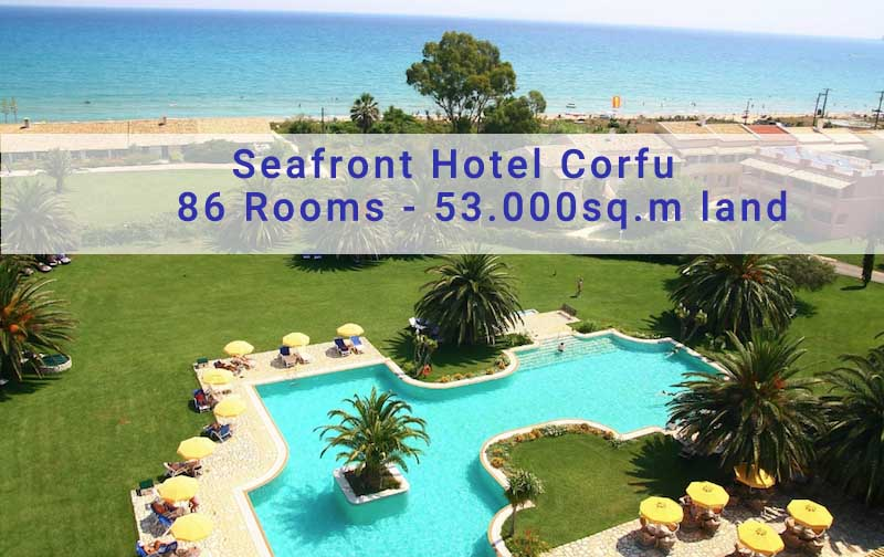 Seafront Hotel in Corfu for Sale, 86 suites & Apartments