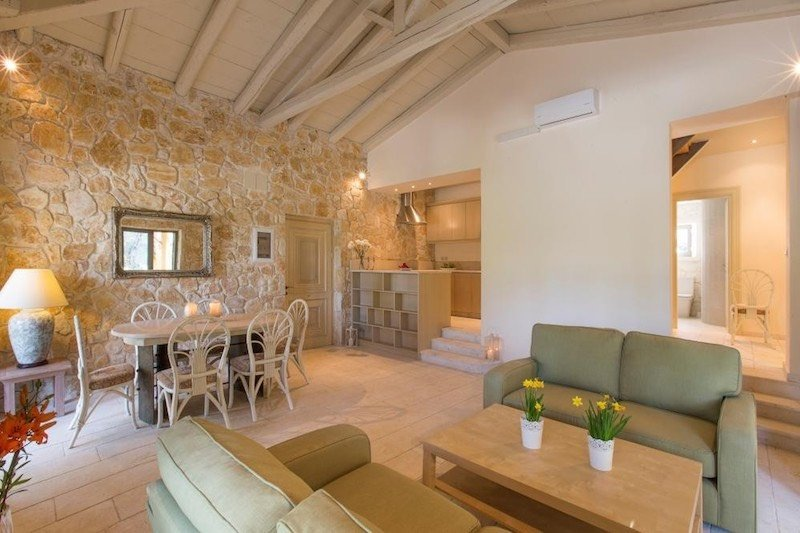 Stone Villa in Corfu with pool, Avlaki Beach