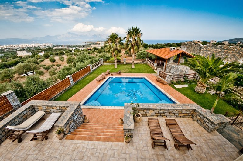 Beautiful villa and pool in Crete with extra land for sale, Agios Nikolaos