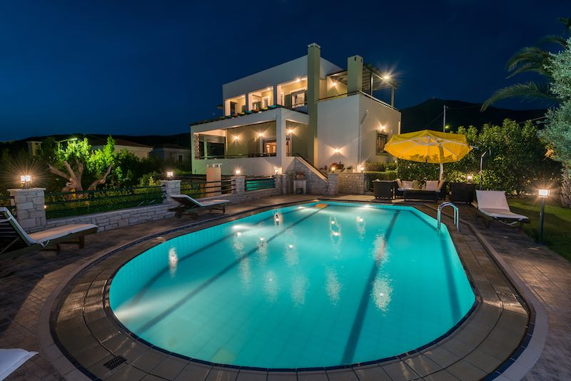 Top Villa in Rethymno, with 2 Private Pools and 6 Bedrooms