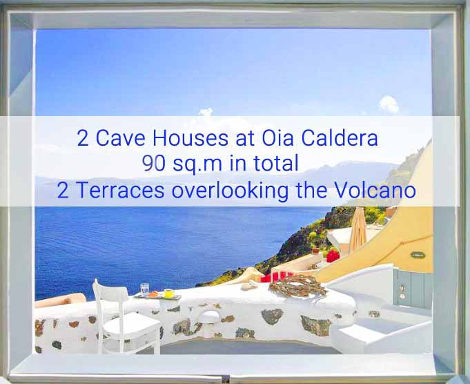 2 Cave Suites than can be united and become one Cave Villa, Santorini Oia