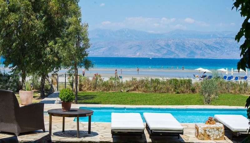 On the beach, Villa with direct sea access at Corfu, Kassiopi, Top Villas, Real Estate Greece, Property in Greece