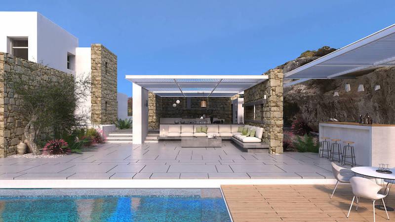 8 room Luxury Villa in Paros Greece, Santa Maria 3