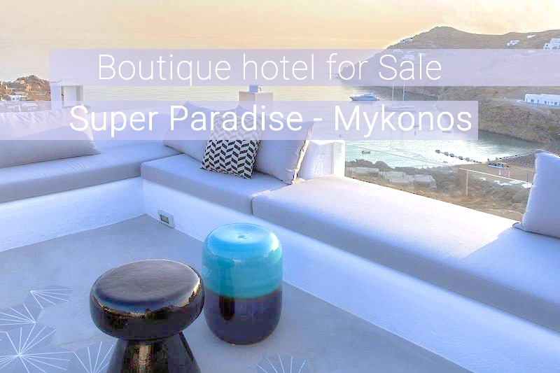 Boutique Hotel for sale at Super Paradise Mykonos