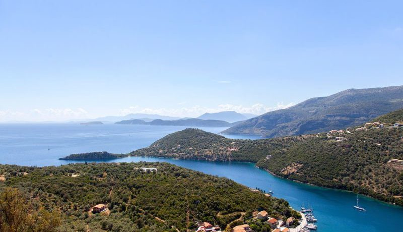 sivota, panoramic view, villa, lefkada