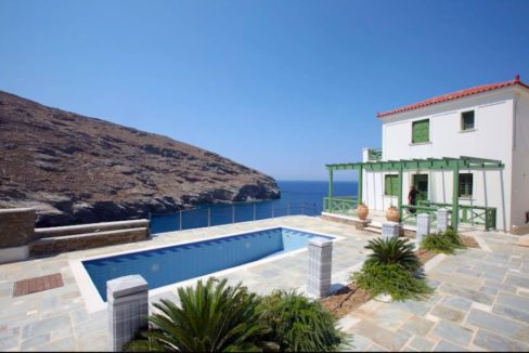 Seafront Villa For Sale Greece, Andros Cyclades