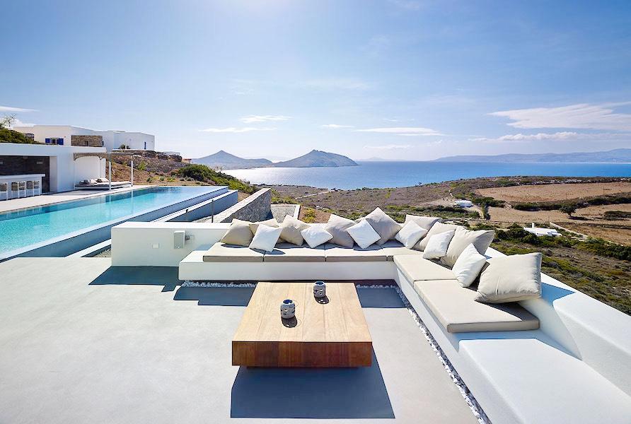Minimal Villa in Paros, Insterni area