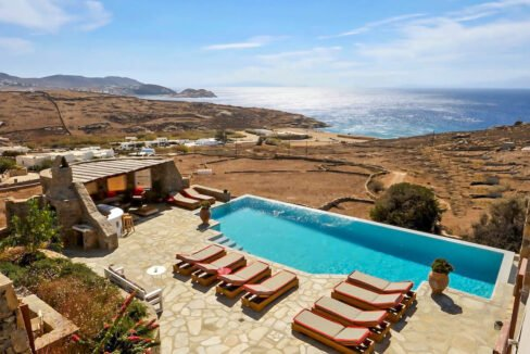 Villa Mykonos of 880 sq.m with amazing Sea view, Lia Beach