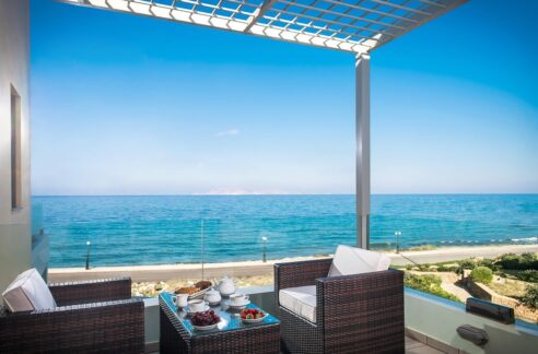 Seafront Villa in Gouves near Heraklio Crete. Seafront Properties in Crete Greece
