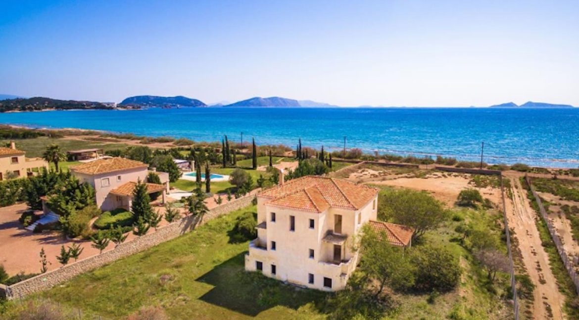 Semi Finished Beachfront Villa in Porto Heli,situated in Petrothalassa, is a residence on a plot of 4,000 sqm bordering an amazing beach 1