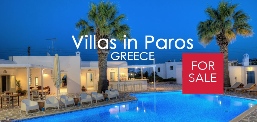 Villas for Sale in Paros, Luxury Real Estate in Paros Island, Paros Greece, Villas in Paros Greece for sale, Seafront Villas in Paros, Paros island realty