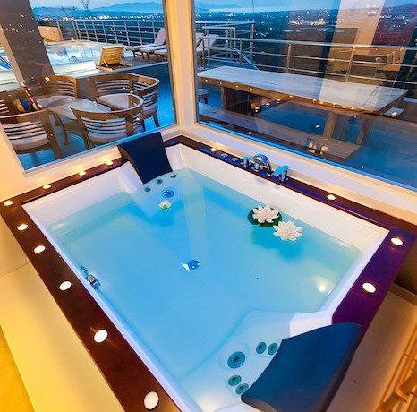 Luxury Villa with helipad at Chania Crete 15