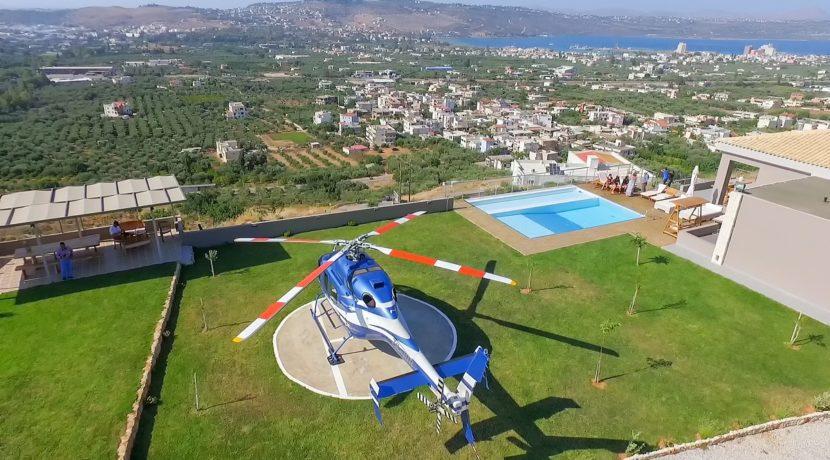 Luxury Villa with helipad at Chania Crete 3