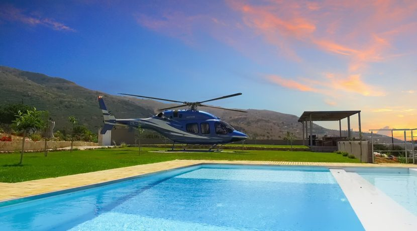 Luxury Villa with helipad at Chania Crete 4