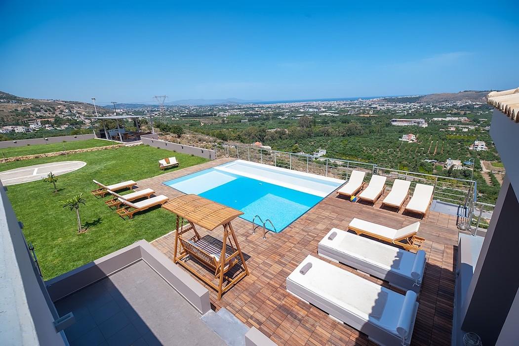 Luxury Villa with helipad at Chania Crete