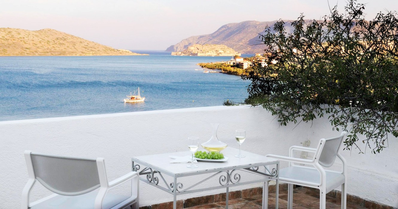Seafront Hotel at Elounda Crete Greece with 72 Rooms