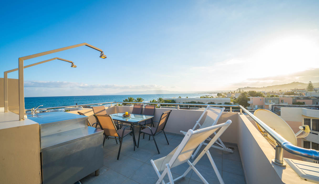 Seafront Villa With 2 Roof Top Private Pools In Crete