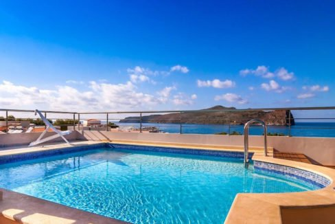 Seafront Villa with Roof Top Pool at Chania Crete for Sale, Villa with pool Crete, Property for sale in Crete, Greece property for sale by the beach