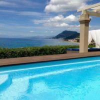 Complex of 5 small seafront villas in Corfu for sale 1