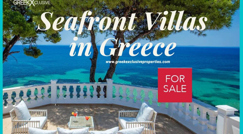 Beachfront Villas in Greece, Waterfront Villas in Greek islands, Sea Front Villas for Sale