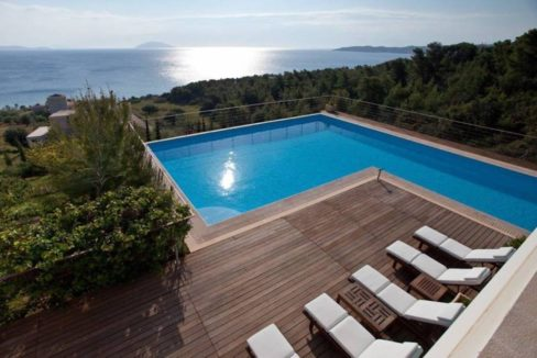 Seafront Villa Porto Heli, Peloponnese. Luxury property for sale Peloponnese, Peloponnese property for sale, Greece property for sale by the beach 19