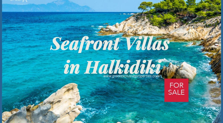 Seafront Villas Halkidiki for Sale, Kassandra villas, Halkidiki villas for sale