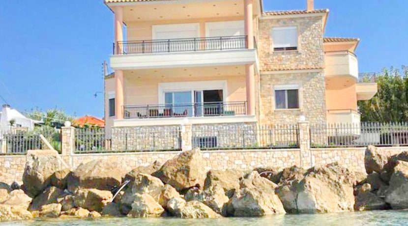 Seafront property in Korinthos Greece. Greece property for sale by the beach