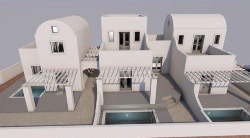3 New Villas in Santorini, Vothonas area, Santorini property for sale, Vothonas Santorini for Sale, Property in Santorini for Airbnb 1