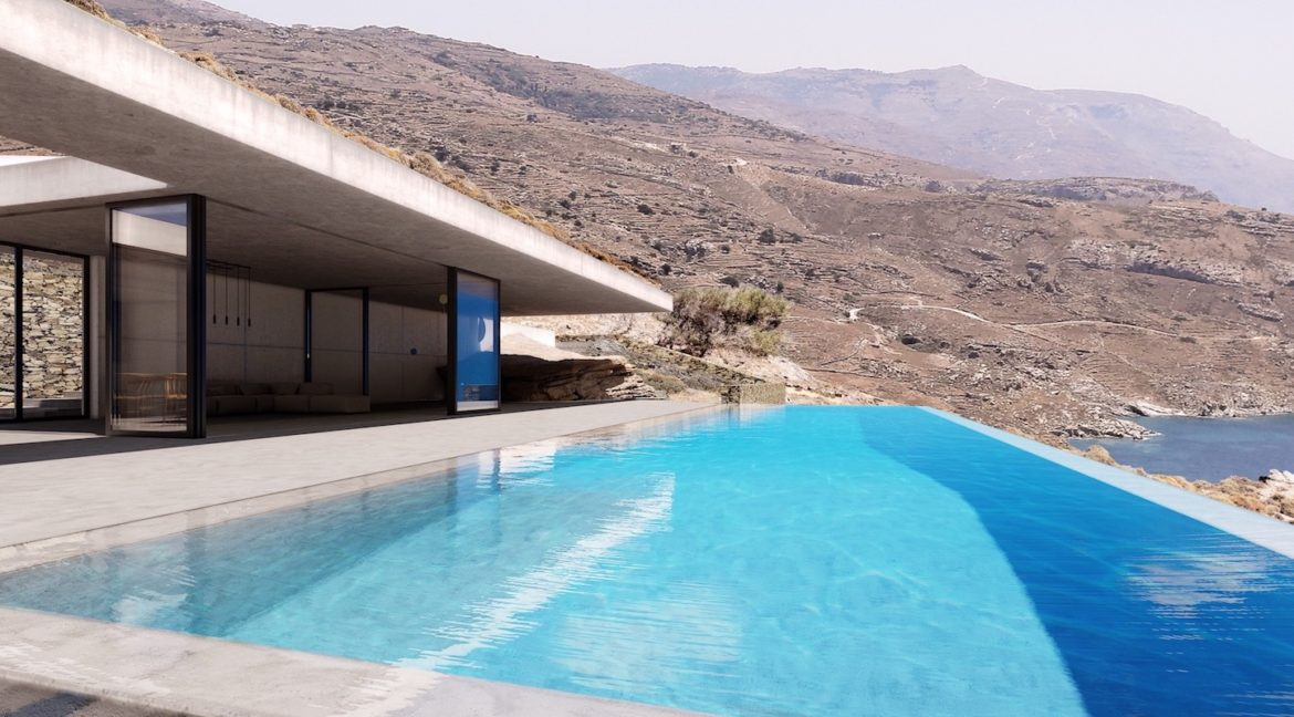 Cave Style Super Villa in Andros Island, Cyclades Luxury Villas, Luxury Estate Andros Greece, Luxury Property in Andros Greece, High End Villa in Greece