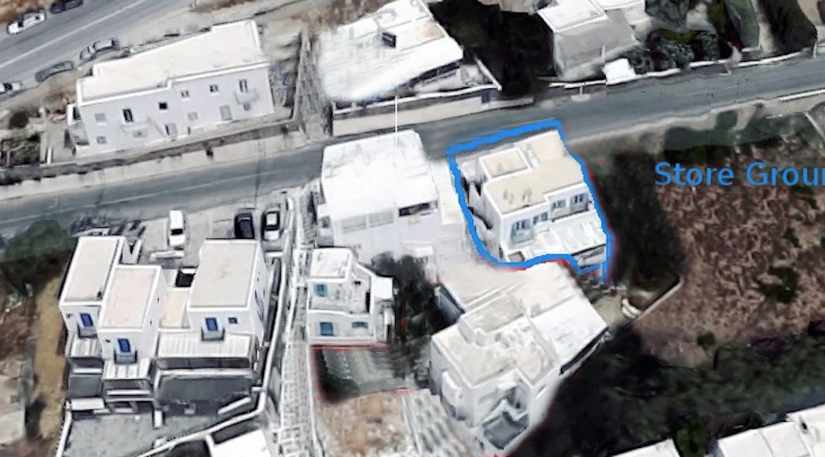 Commercial Property in Mykonos, at the busiest Road of Mykonos Town. Property for sale in Mykonos Town, Mykonos Chora Commercial Building 1