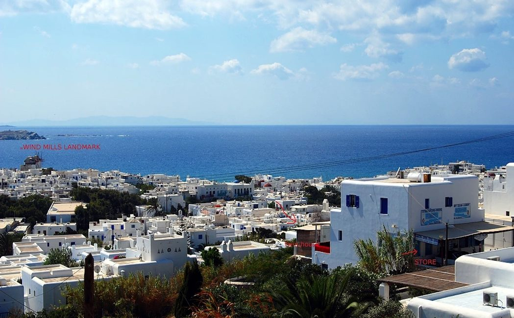 Commercial Property in Mykonos, at the busiest Road of Mykonos Town. Property for sale in Mykonos Town, Mykonos Chora Commercial Building 2