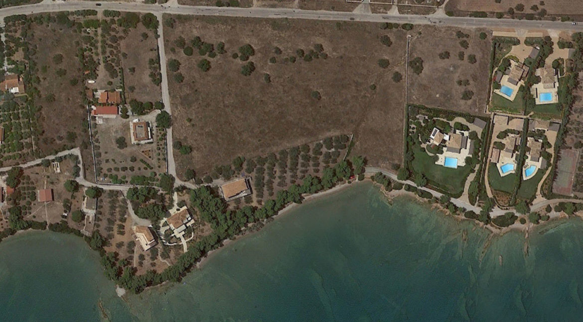 Land in Porto Heli for Sale, By the Sea, Ideal to Built 1-3 Villas, Beachfront Land for Sale in Porto Heli, Seafront land to built in Porto Heli 4