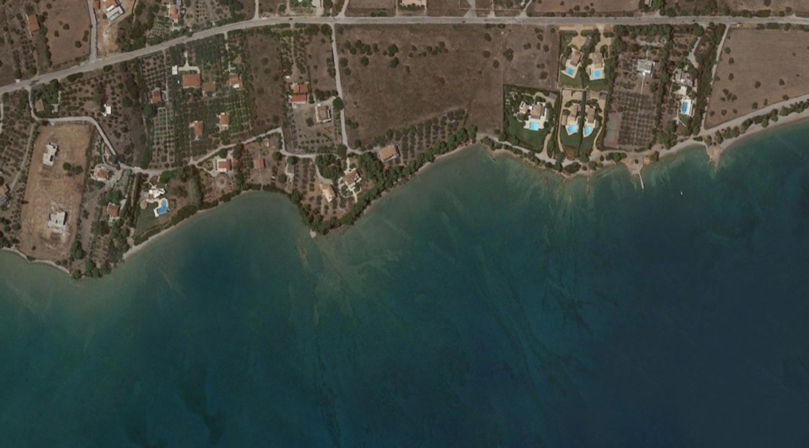 Land in Porto Heli for Sale, By the Sea, Ideal to Built 1-3 Villas, Beachfront Land for Sale in Porto Heli, Seafront land to built in Porto Heli 5