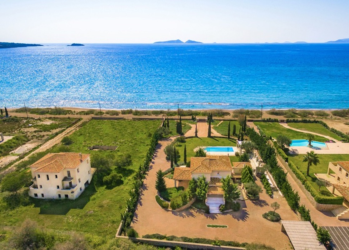 NEW Seafront Villa in Peloponnese, Beachfront Property in Porto Heli
