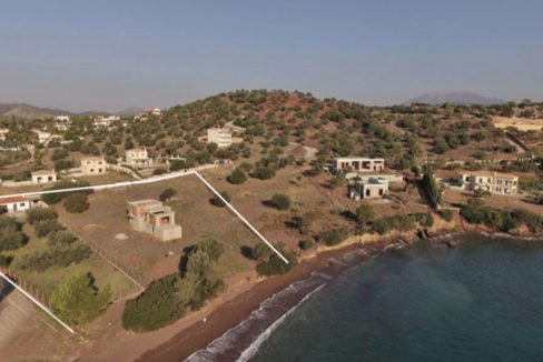 Seafront Land with Semi Finished Villa, Porto Heli Real Estate, Seafront Land in Peloponnese Porto Heli, Excellent Beacfront LAnd in Peloponnese 12