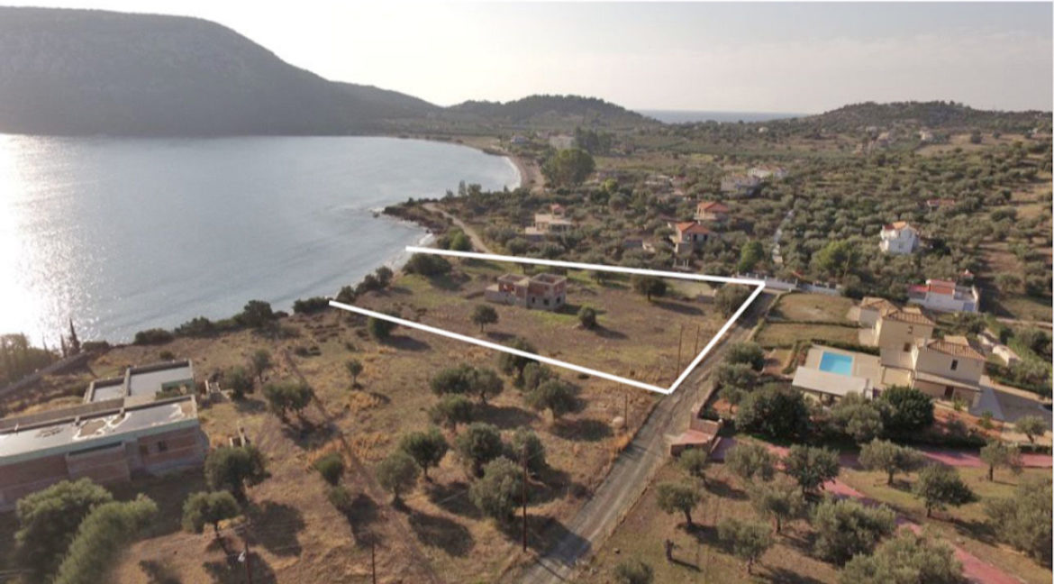 Seafront Land with Semi Finished Villa, Porto Heli Real Estate, Seafront Land in Peloponnese Porto Heli, Excellent Beacfront LAnd in Peloponnese 6