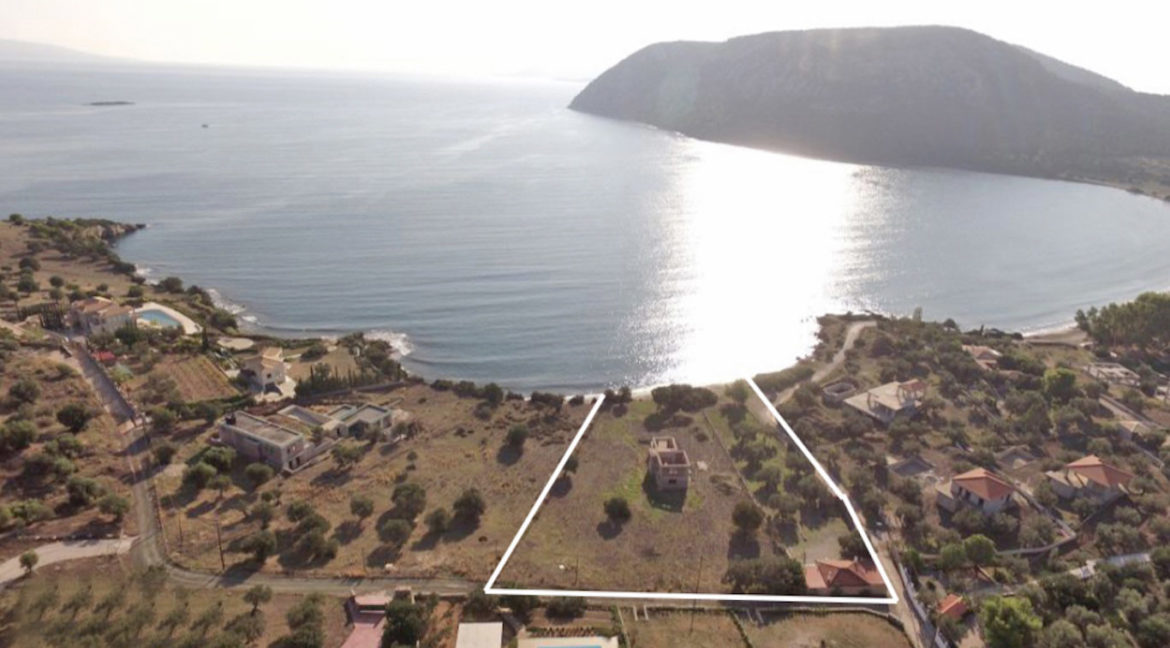 Seafront Land with Semi Finished Villa, Porto Heli Real Estate, Seafront Land in Peloponnese Porto Heli, Excellent Beacfront LAnd in Peloponnese 8