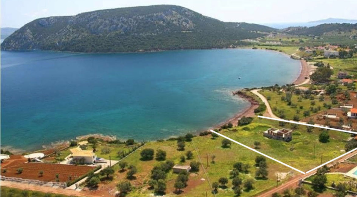 Seafront Land with Semi Finished Villa, Porto Heli Real Estate, Seafront Land in Peloponnese Porto Heli, Excellent Beacfront LAnd in Peloponnese 9
