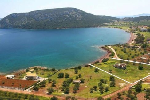 Seafront Land with Semi Finished Villa, Porto Heli Real Estate, Seafront Land in Peloponnese Porto Heli, Excellent Beacfront LAnd in Peloponnese