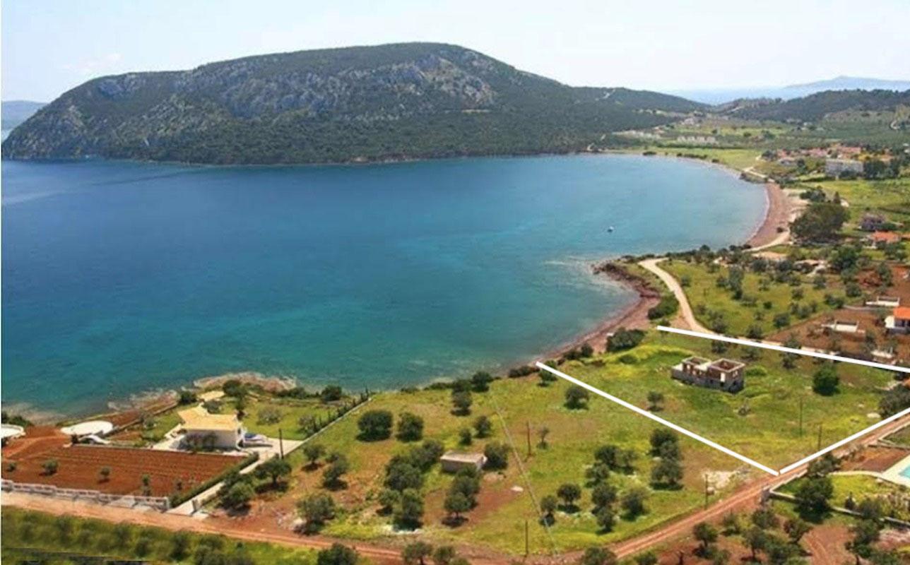 Seafront Land with Semi Finished Villa, Ability for one more villa, Porto Heli
