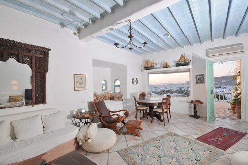 Traditional 2 levels Villa with sea view in Mykonos Center. Mykonos Chora Property for Sale, Mykonos Center House for Sale 11