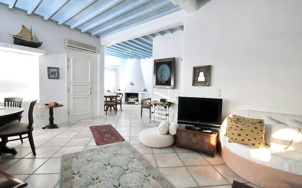 Traditional 2 levels Villa with sea view in Mykonos Center. Mykonos Chora Property for Sale, Mykonos Center House for Sale 8