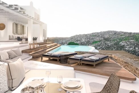Villa in Mykonos with excellent sea view, Agrari, Mykonos villas 4