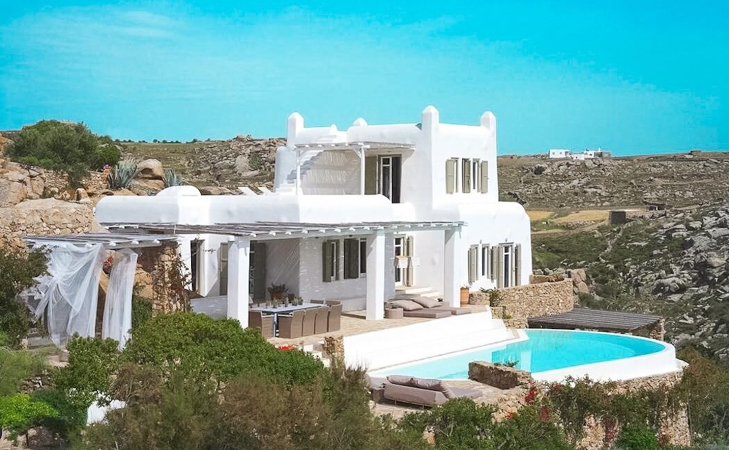 Villa in Mykonos with excellent sea view, Agrari, Mykonos villas