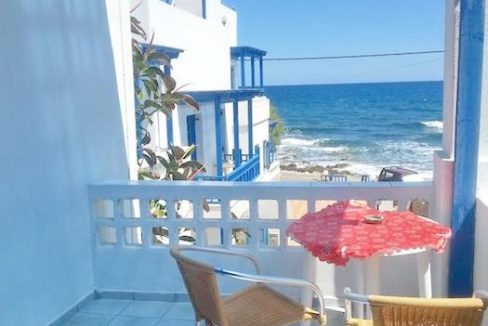 Beachfront Apartments Hotel of 9 studios in Crete, Seafront small Hotel in Greece, Greek Seafront Hotelfor Sale, Small Hotel in Crete for Sale 1