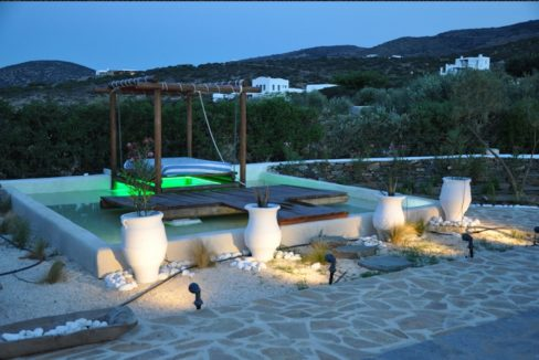House for sale in Paros on the Beach - Beachfront Villa Paros Greece, Seafront villas in Greece, Property on the Beach Paros 13