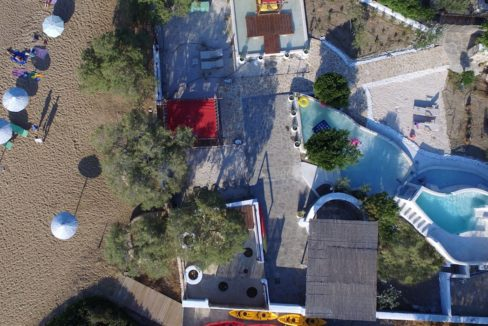 House for sale in Paros on the Beach - Beachfront Villa Paros Greece, Seafront villas in Greece, Property on the Beach Paros 7