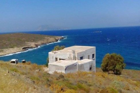 Beachfront house for sale in Ios - Cyclades, Cyclades Beachfront Property, Buy Cyclades property, Villa needs renovation in Greece
